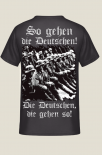 So gehen die Deutschen! Die Deutschen, die gehen so! Rückenmotiv T-Shirt