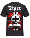 Tiger Panzer Rückendruck T-Shirt