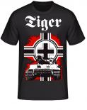 Panzer Tiger Balkenkreuz - T-Shirt