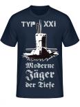 Deutsche U-Boote Typ XXI Moderne Jäger der Tiefe T-Shirt