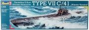 Deutsches U-Boot TYPE VII C/41 Atlantic Version im Maßstab 1:144 Modellbausatz