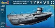 Deutsches U-Boot TYPE VII C im Maßstab 1:350 Modell Bausatz