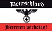 Deutschland - Betreten verboten - Fahne 150x90cm