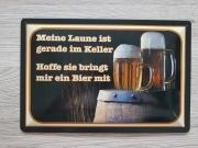 Bier - Blechschild V