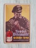 Kriegsmarine Tag der Wehrmacht - Blechschild