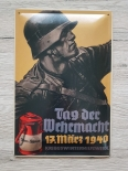 Deutscher Soldat, Tag der Wehrmacht - Blechschild