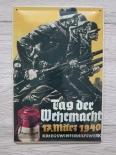 Deutsche Soldaten, Tag der Wehrmacht - Blechschild II