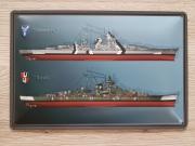 Schlachtschiff Bismarck und Tirpitz - Blechschild