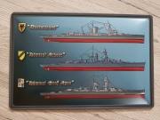 Panzerschiff Admiral Graf Spee, Admiral Scheer, Deutschland - Blechschild
