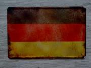DDR 1949–1959 Flagge/BRD Flagge - Blechschild