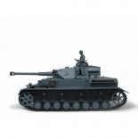 1/16 RC Panzerkampfwagen IV Ausf. F2 grau BB 2.4GHz mit Metallgetriebe