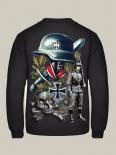Wehrmacht Soldat Großdeutschland, Panzerwaffe Totenkopf, Eisernes Kreuz - Pullover