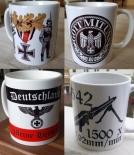 Wehrmacht - 4 verschiedene Tassen(Rundumdruck)