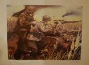 """Kriegskunst """"Waffen-SS Scharfschütze im Ostfeldzug"""" Poster 42 x 59,4 cm"""