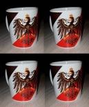 Preußen Adler - Preußens Gloria auf Reichskriegsflagge - 4 Tassen(Rundumdruck)