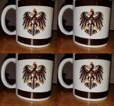 Preußen Flagge - 4 Tassen(Rundumdruck 3x Preußen Adler)