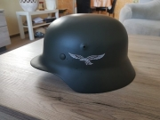 Wehrmacht HELM M35 mit Helmabzeichen der Luftwaffe