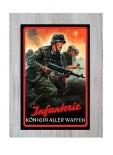 Infanterie - Königin Aller Waffen - Blechschild