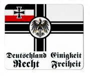 Reichskriegsflagge Deutsches Reich Deutschland, Einigkeit, Recht, Freiheit - Mauspad/Untersetzer