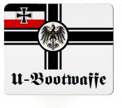Reichskriegsflagge Deutsches Reich U-Bootwaffe - Mauspad/Untersetzer