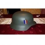 Wehrmacht Légion des volontaires français(France) HELM M35 mit Helmabzeichen