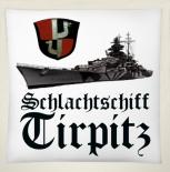 Schlachtschiff Tirpitz - 40x40cm Kissen