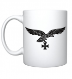Luftwaffe Adler - 4 Tassen(Rundumdruck mit 2 Motiven)