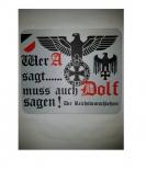 Wer A sagt muss auch Dolf sagen! Der Reichsdeutschlehrer - Mauspad/Untersetzer